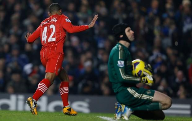Jason Puncheon gol Southampton x Chelsea (Foto: AP)