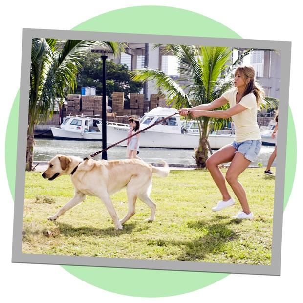 """Jennifer Aniston em cena de """"Marley e Eu"""" (Foto: Reprodução)"""