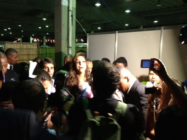Ivete Sangalo chega ao Festival de Verão de Salvador (Foto: EGO)