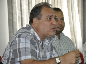 Carlos Rufino presidente do União Rondonópolis (Foto: Robson Boamorte)