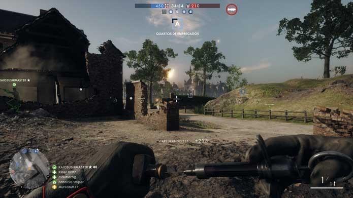 Cure seus companheiros em Battlefield 1 (Foto: Reprodução/Murilo Molina)