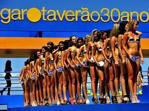 Candidatas do concurso de beleza Garota Verão, em Capão da Canoa, RS (Foto: Lauro Alves/Agência RBS)