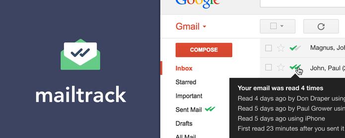 Mailtrack revela se seu e-mail foi aberto — e possivelmente lido — no Gmail (Foto: Divulgação/MailTrack)