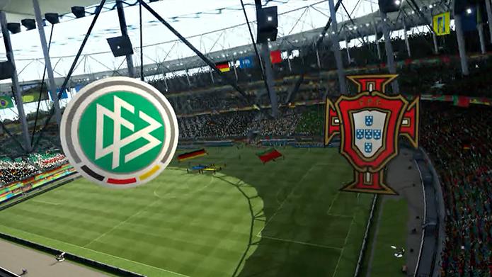 Simulação Copa do Mundo Fifa 2014: Alemanha x Portugal (Foto: Reprodução/Murilo Molina)