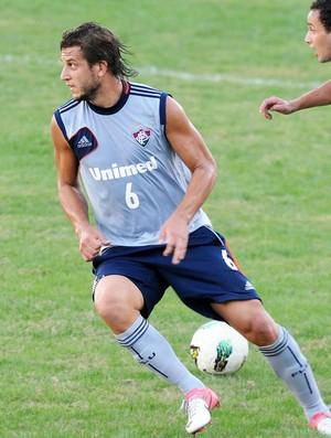 Rafael Moura, treino do Fluminense (Foto: Dhavid Normando / Photocamera)