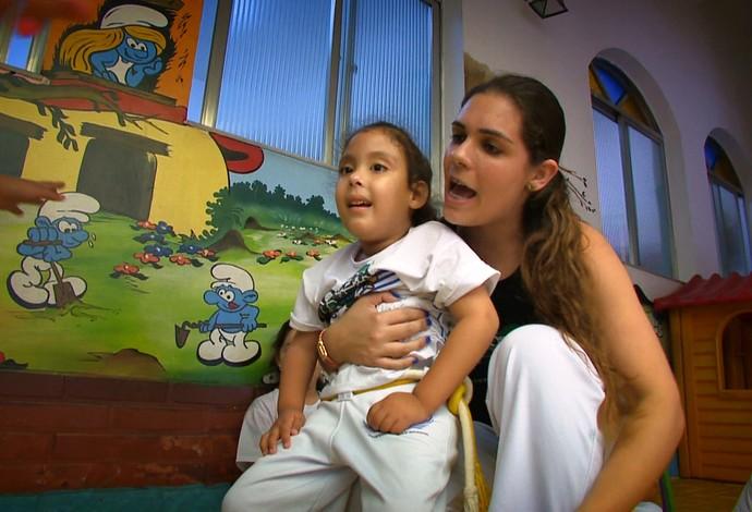 Mariah Juiz de Fora capoeira (Foto: Reprodução/TV Integração)