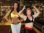 Puro músculo! Gracyanne Barbosa encontra Sônia Ferraz, a Vovó Fitness