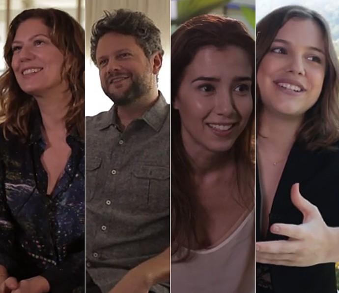 Patricia Pillar, Selton Mello, Marjorie Estiano e Alice Wegmann contam curiosidades dos bastidores (Foto: Gshow)