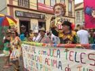 Foliões celebram carnaval em São Luiz do Paraitinga, SP