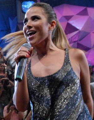 Wanessa comenta primeiro dia de shows do evento (Foto: Zé Paulo Cardeal/Globo)