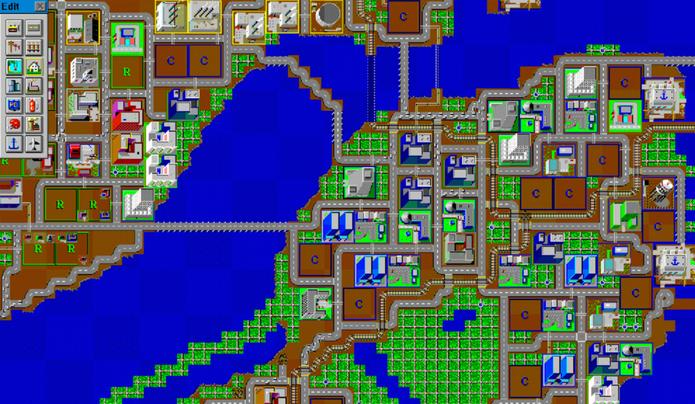 O primeiro SimCity (Foto: Reprodução/Felipe Vinha)