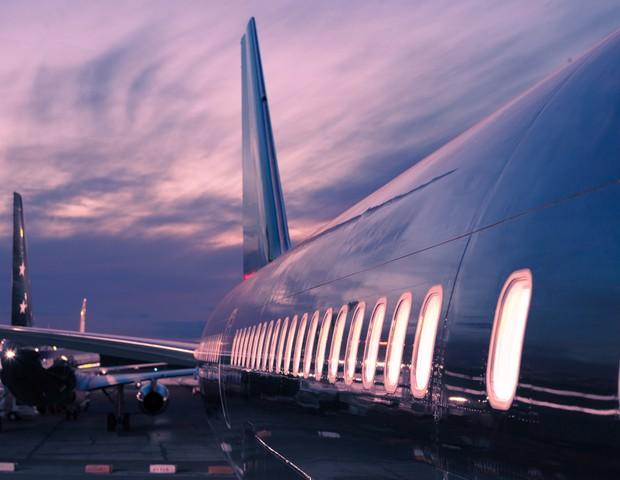 Private Jet que será usado no tour da Latitudes (Foto: reproduçao)