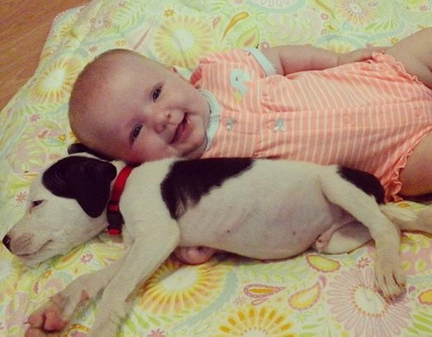 A americana Brandi Hodges registra amizade de 'dupla inseparável'  (Foto: Reprodução/Instagram/brandileigh080)