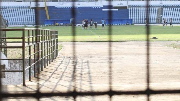 Treino secreto do Treze no Amigão (Foto: Magnus Menezes / Jornal da Paraíba)