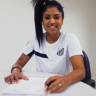 Maurine - Santos - Sereias (Foto: Divulgação/Santos FC)