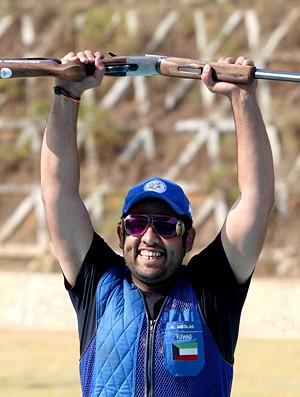 Naser Meqlad Kuwait tiro nos Jogos Asiáticos (Foto: AFP)