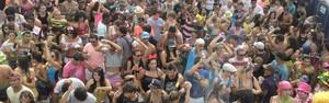 Navegay reúne multidão e trios elétricos em Carnaval de Navegantes (Jefferson Acevedo/RBS TV)