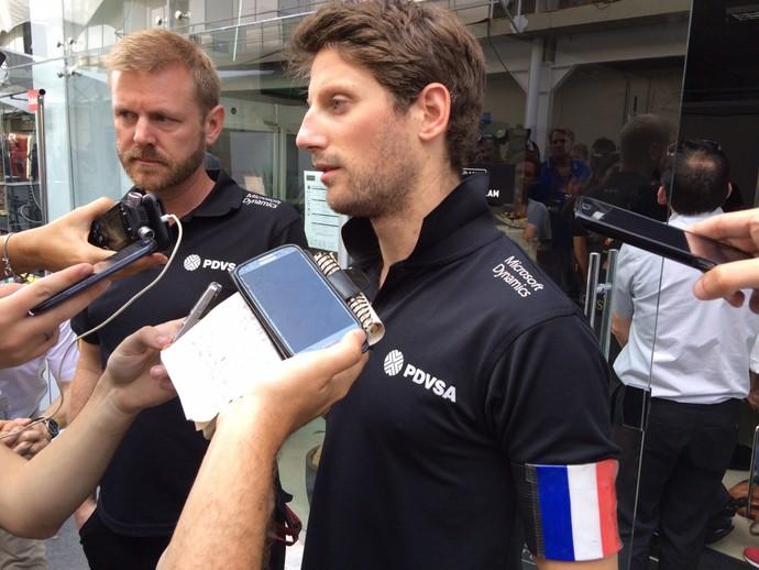 Romain Grosjean expressa preocupação com pais e amigos após tragédia em Paris (Foto: David Abramvezt)