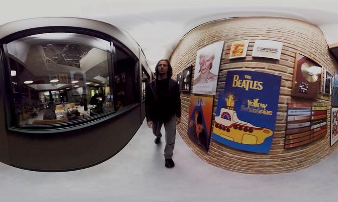 Vídeo 360° acompanha Gui Santiago na gravadora Som Discos (Foto: Gshow)