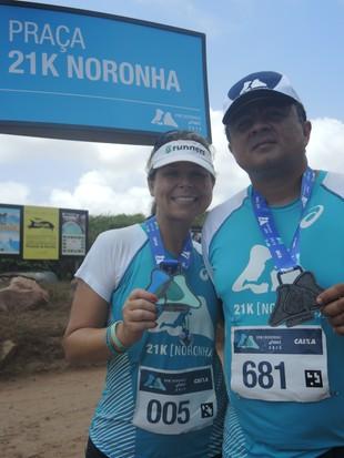euatleta 21k Noronha Sandro e Adriana (Foto: Luma Dantas)