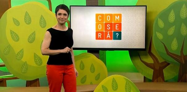 Sandra Annenberg mostra ideia de plástico ecológico desenvolvida por estudantes de Alagoas (Foto: Reprodução/ Rede Globo)