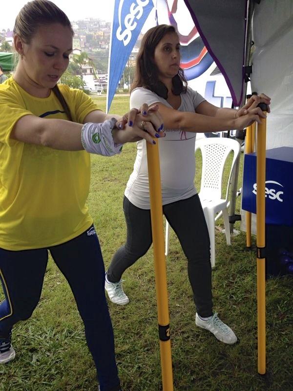Gestantes participaram de atividades  (Foto: Vera Bonfante/RBS TV)