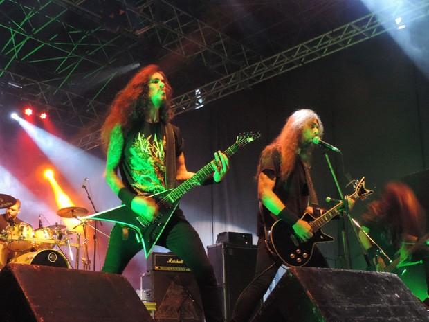 Banda Krow, no Abril pro Rock (Foto: Katherine Coutinho / G1)