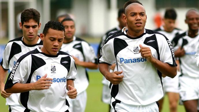 Magnum com Luiz Alberto no Santos (Foto: Ricardo Saibun/Gazeta Press)