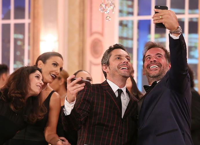 Leandro Hassum também entra na onda das selfies (Foto: Isabella Pinheiro/Gshow)