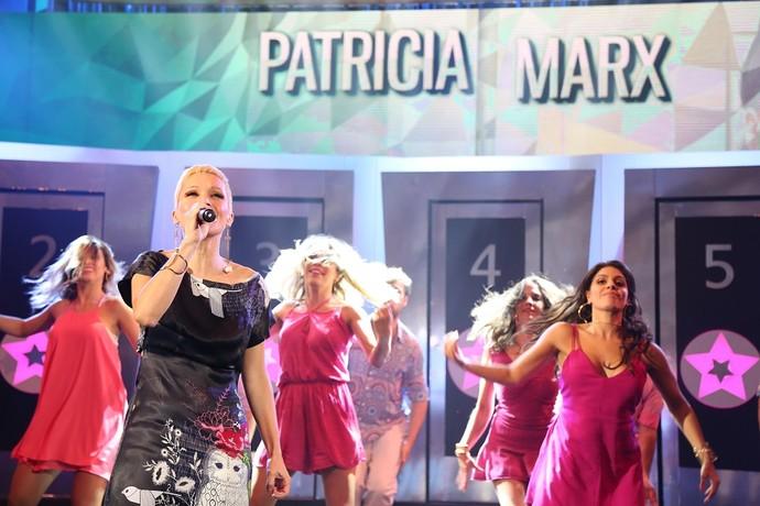 Patricia se emocionou no programa  (Foto: Carol Caminha/Gshow)