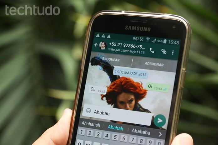 WhatsApp com novo visual (Foto: Anna Kellen Bull/TechTudo)