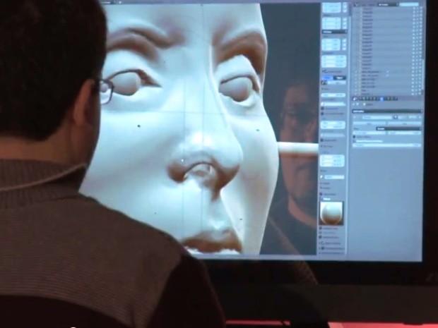 Face foi reconstruída em por designer em programa de computador (Foto: Daniel Ludwig / Reprodução)