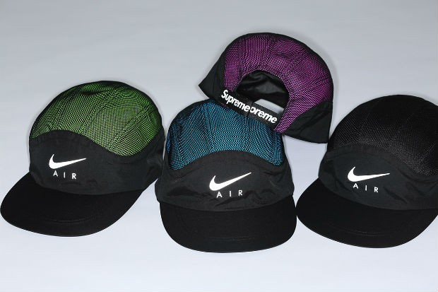 Os bonés da nova coleção Nike x Supreme (Foto: Divulgação)