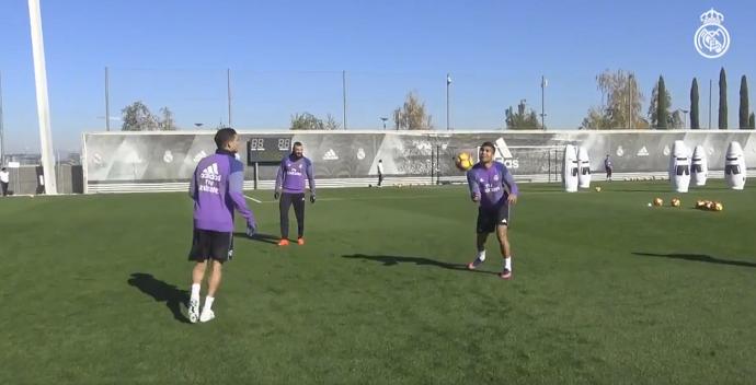 BLOG: Casemiro exibe habilidade em treino com Sergio Ramos, Pepe e Benzema