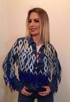 Fernanda Keulla usa jaqueta jeans de R$ 30 mil com mais de 45 mil cristais