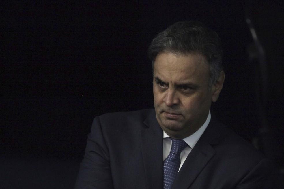 O senador Aécio Neves é suspeito de ter recebido propina obtida por meio de contratos de Furnas (Foto: Eraldo Peres/AP)