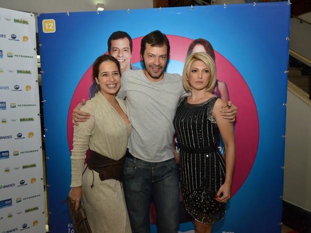 Paloma Duarte, Heiton Martinez e Antônia Fontenelle em evento no Rio (Foto: Léo Marinho/ Ag. News)