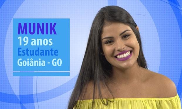 Munik está entre as novas participantes do BBB 16 (Foto: Divulgação/Globo)