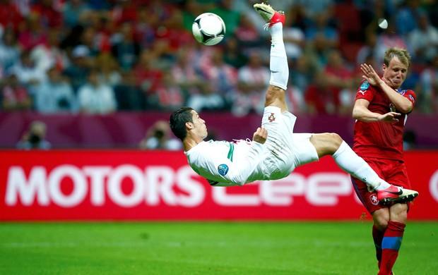 Cristiano Ronaldo- Rep. Tcheca X Portugal (Foto: Agência Reuters)