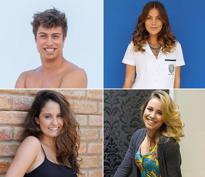 Francisco Vitti, Pâmela Tomé, Amanda de Godoi e Laryssa Ayres também agradecem o carinho dos fãs (Foto: TV Globo)