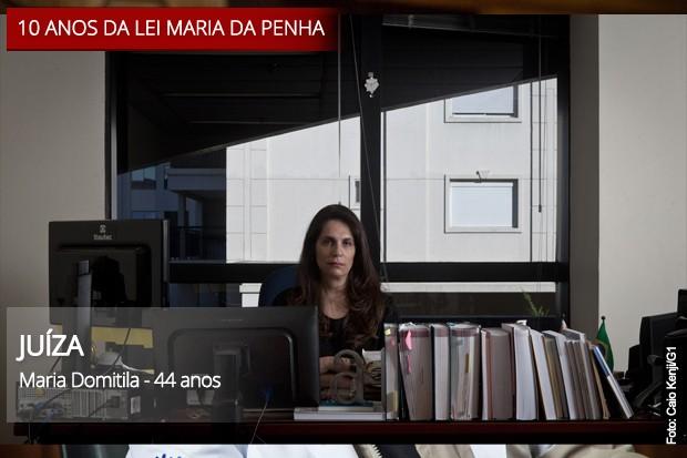 Maria Domitila, juíza (Foto: Arte/G1)