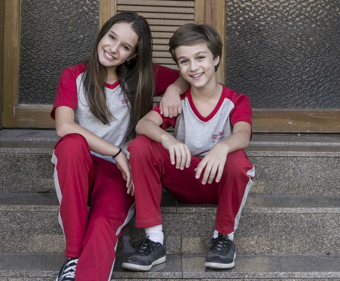 Vitor Figueiredo e Kiria Araujo interpretam Max e Marina em 'Malhação' (Foto: Inácio Moraes/Gshow)
