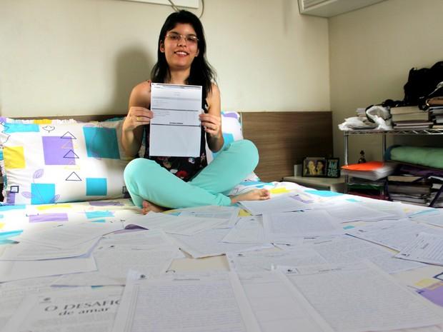 Piauiense que atingiu nota máxima na redação afirma que praticou bastante antes da prova (Foto: Gilcilene Araújo/G1)