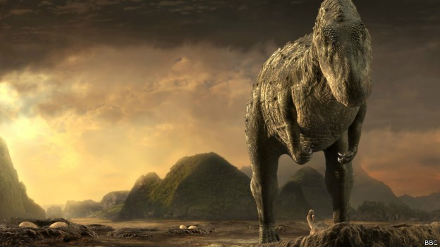 Especialistas dizem que dinossauros poderiam ter sobrevivido a impacto em outra época (Foto: BBC)