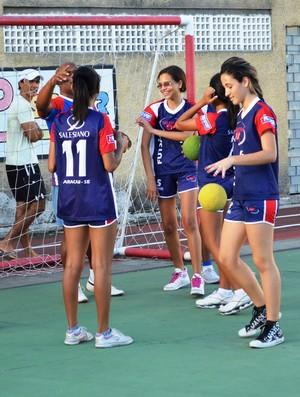Handebol feminino também participará (Foto: Felipe Martins/GLOBOESPORTE.COM)