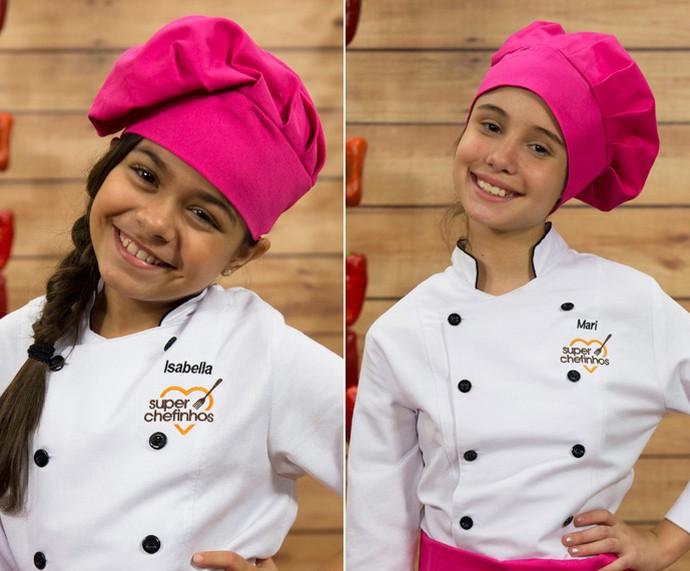 Isabella e Mari deixam o 'Super Chefinhos' (Foto: Globo/Renato Rocha Miranda)