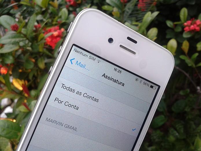 Como criar uma assinatura personalizada para cada conta de e-mail no iOS (Foto: Marvin Costa/TechTudo)