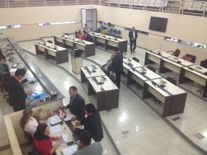 Falta de quórum adiou apreciação de veto do governo do Amapá (Foto: Abinoan Santiago/G1)