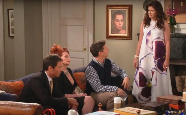 Nova cena de 'Will & Grace', divulgada nesta segunda-feira (26): a partir da esquerda, Will (Eric McCormack), Karen (Megan Mullally), Jack (Sean Hayes) e Grace (Debra Messing)