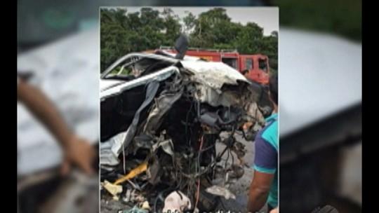 Acidente entre caminhão e dois carros deixa três pessoas feridas na BR-316, no Pará